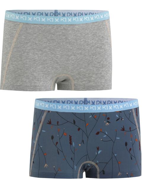 Kari Traa Attraktiv - Sous-vêtement Femme - Double Pack gris/bleu